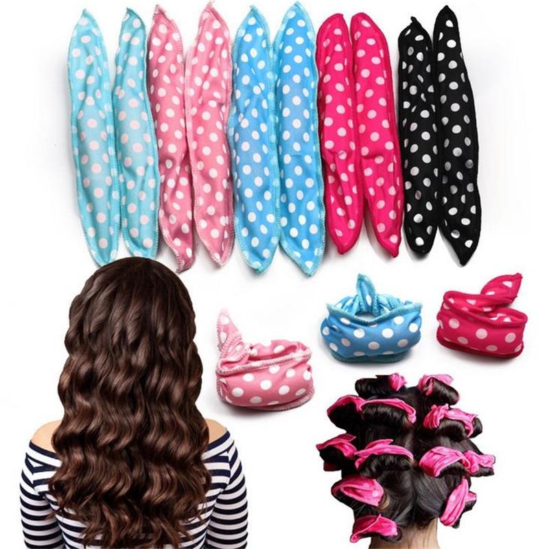 10 unids/set de rizador de pelo de esponja Twist sin calor suave sueño rodillos de pelo Set Flexible Magic Herramienta de Peinado 30 #