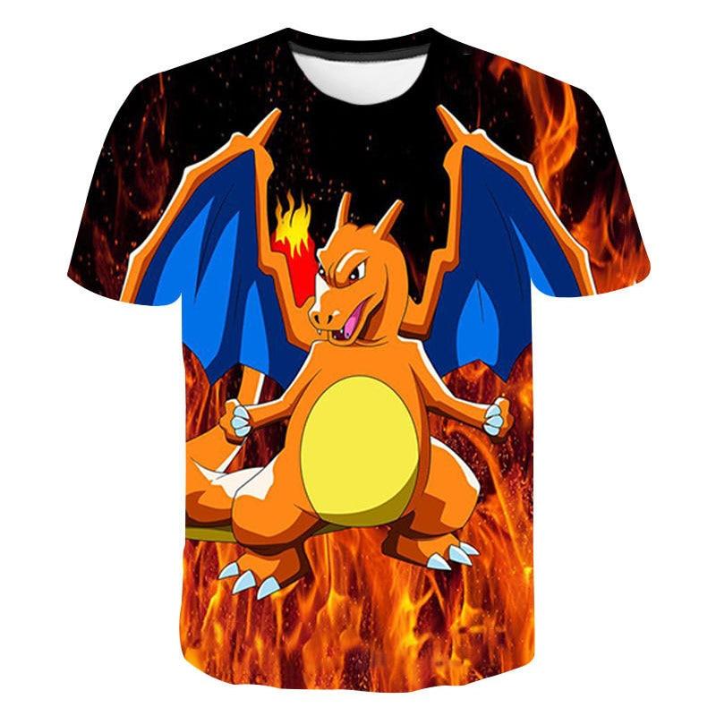 Boys pokemon Print Clothes Girls 3D Funny T-shirts Costume Children 2020 summer Clothing Kids Tees Baby Tshirts