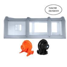 Auto Spuitcabine Custom Tent Opblaasbare spuiten kamer Draagbare US Plug 10cm dikke filter 23*9.8 * 8.2ft 110V