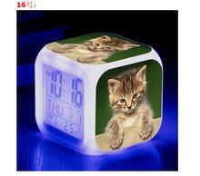 Reloj Digital con alarma de gato