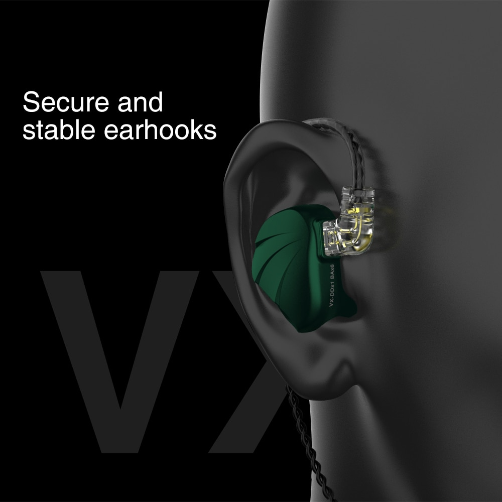 New TRN VX 6BA+1DD Hybrid Metal In Ear Earphone IEM HIFI DJ Monitor Running Sport Earphone Earplug Headset Headplug enlarge