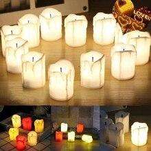 Bougies chauffe-éclairage avec batterie   Bougies chauffe-mère, lampe style romantique Votive, sans flamme, colorée, électronique, meilleur cadeau pour la maison
