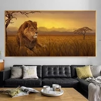 animal lions canvas art posters wall art landscape wall canvas printing picture for living room home poster art decoration