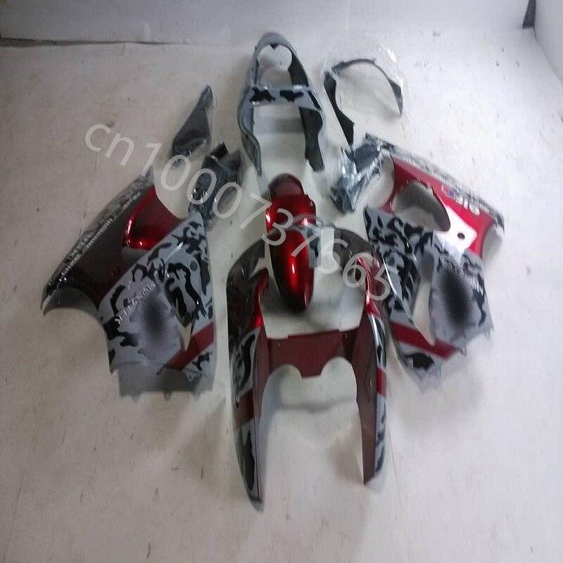 حار مبيعات هدية تناسب كاواساكي النينجا ZX6R 00-02 ZX-6R 2000-2002 ZX 6R 2000 2002 00 01 02 رمادي أحمر أسود هدية