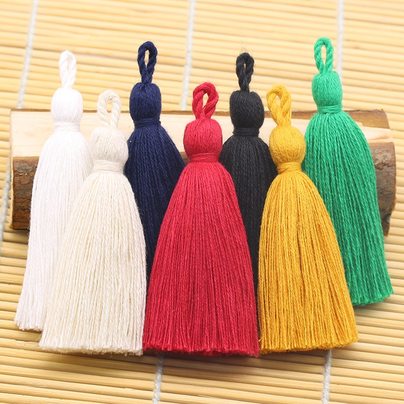 AliExpress - 8cm Cotton Tassel Hanging Rope Fringe Tassel for Sewing Curtains Garment Home Decoration Jewelry Craft DIY Accessories 10pcs/lot