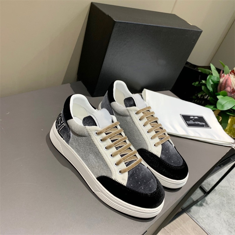 2021 men's and women's shoes lace-up sneakers flat board shoes luxury brand fashion designer women's shoes