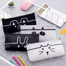 الكرتون الحيوان سلسلة مقلمة طالب هدية حقيبة أدوات مكتبية حافظة أقلام رصاص بسحّاب (سوستة) نظارات حقيبة القرطاسية حقيبة التخزين