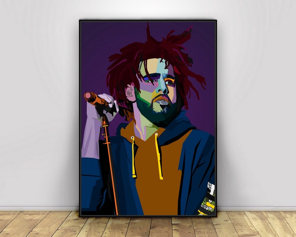 Arte Pop Hiphop rapero cantante de música cartel impresión arte de pared lienzo pintura decoración del hogar lienzo impresión (sin marco) #1