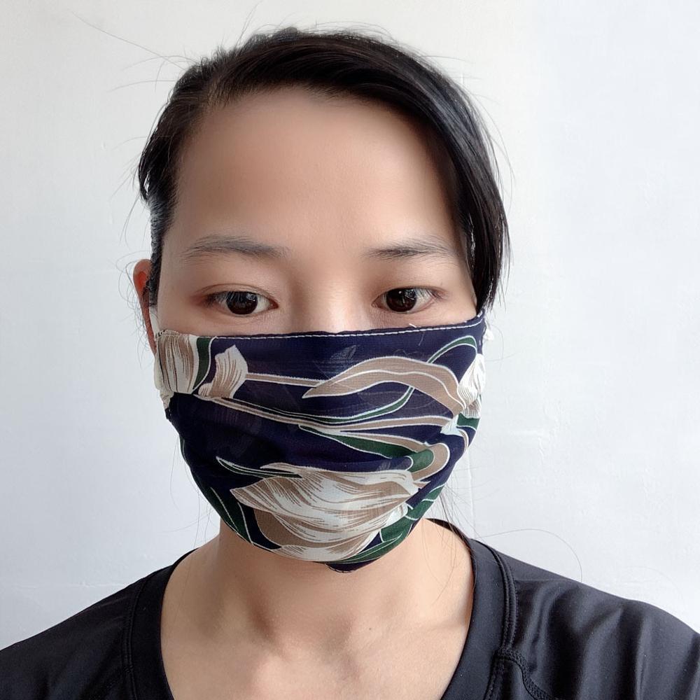 Шифон цветочный принт Facemask многоразовый пылезащитный респиратор головной убор для пыли на открытом воздухе спортивная дышащая маска для лица mascarillas
