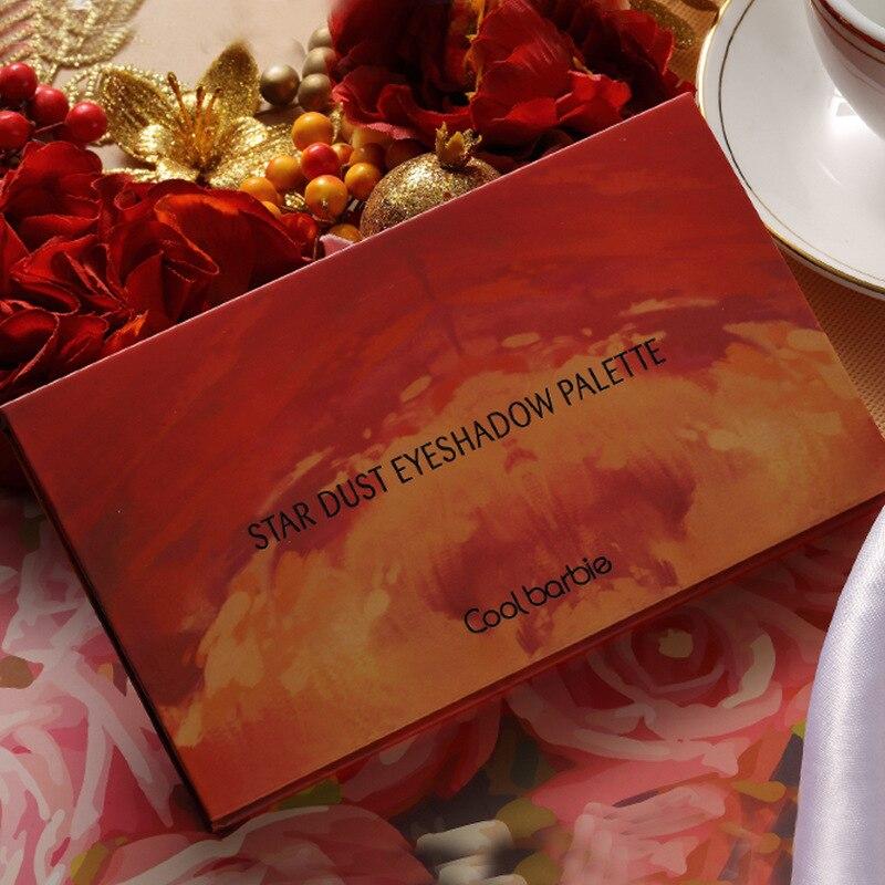 Sombra de ojos color rosa del desierto de 18 colores color mate color tierra minoritaria mujer 18 colores paleta de sombras de ojos cuentas polvo brillante