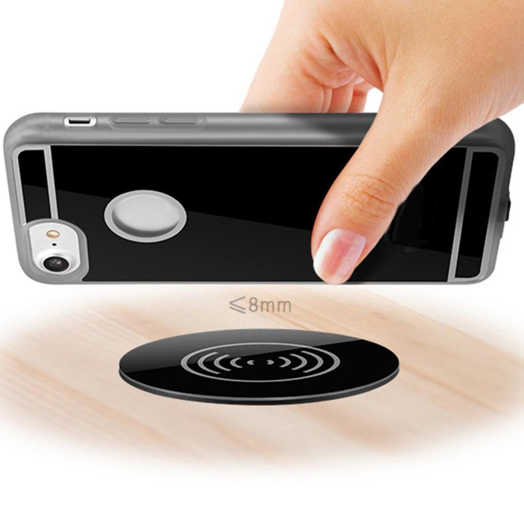 Беспроводное зарядное устройство elenxs Qi для iPhone/XS/XR для Samsung S9, встроенная мебель, офисное зарядное устройство