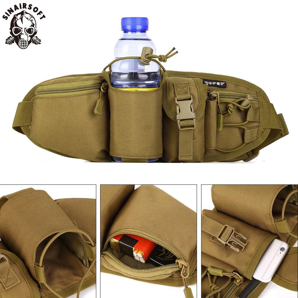 SINAIRSOFT Sport Waist Packs Travel Men Waterproof MOLLE System City Tactical Bag Jogging Bags Urban Chic Streetwear Backpack