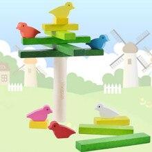 Jouets déquilibre en bois pour enfants mignon oiseau blocs déquilibrage Montessori matériaux jouets éducatifs en bois sensoriels