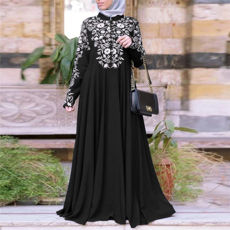 Kimono Abayas Bangladesh para mujer Burka vestido estampado árabe fiesta Dubai Kaftan turco ropa islámica musulmana vestido mujeres N19