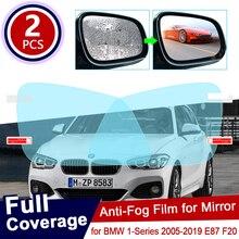 for BMW 1 Series E87 F20 2005~2019 Full Cover Anti Fog Film Rearview Mirror Rainproof Accessories F21 116i 118i 120i 125i 130i M