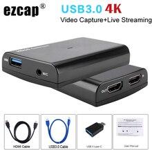 4K 1080P 60fps HDMI téléphone jeu Capture carte micro vidéo boîte denregistrement pour PS3 PS4 Xbox caméscope Twitch Hitbox Youtube Live Streaming