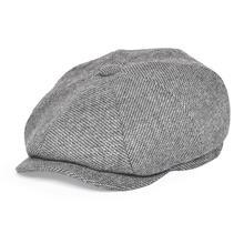 FEINION Newsboy Cap for Men Women 50% Wool Tweed Flat Caps Herringbone Cabbies Big Size Driver Hat 068