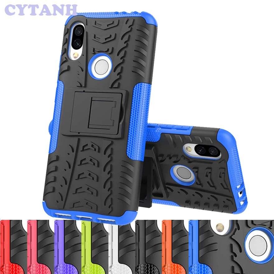 À prova de choque Armadura PC Case Plástico Para Huawei Companheiro 20 Lite Honra Ver 20S 10 9 Lite 7C 7A Pro 7S 9A 8C Tampa 7X 8A 8S 8X 10i 9X 9C
