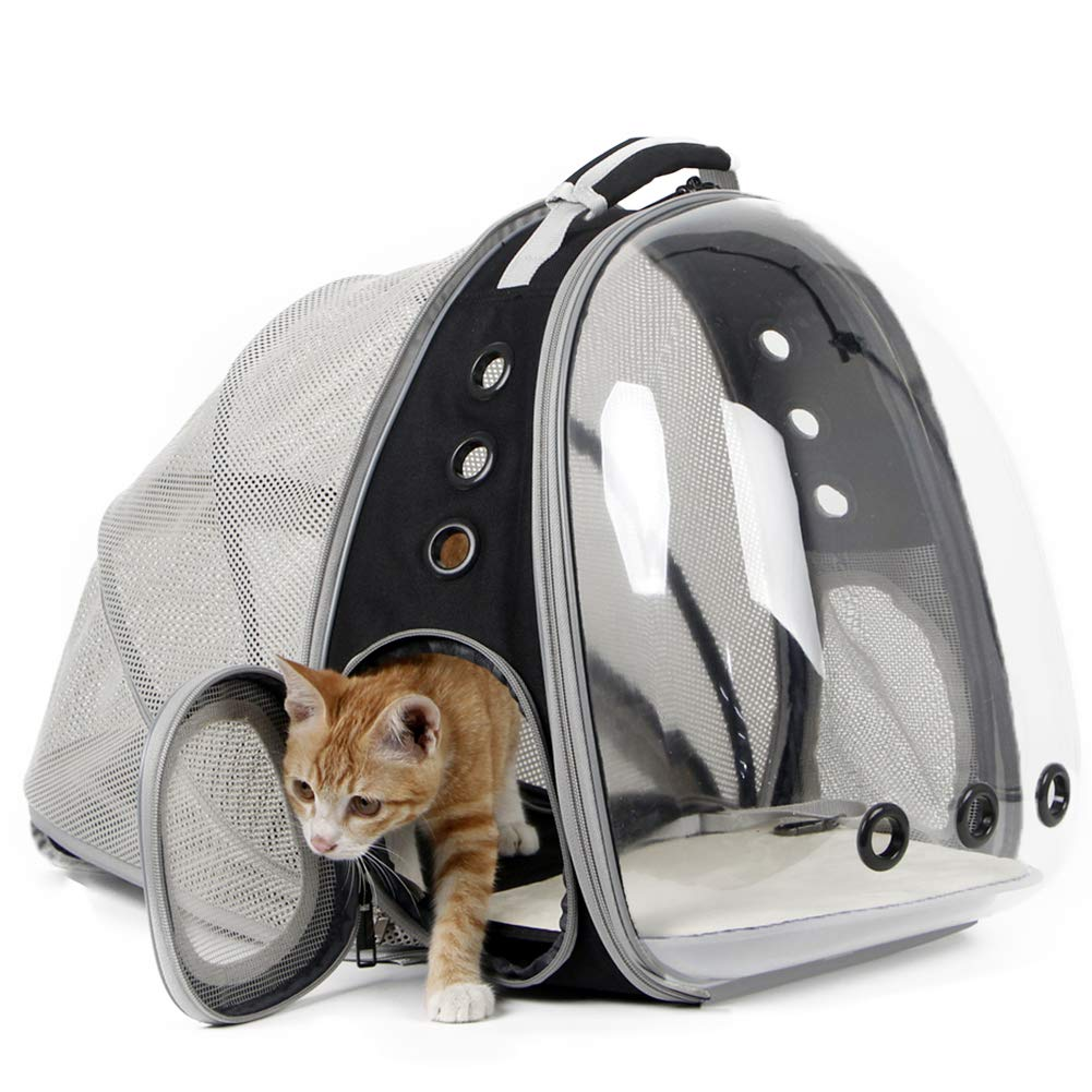 Expandable Cat Carrier Backpack Portable Pet Puppy Traveling Outdoor Backpack Transporter Conveyor Cats Bag Pet Supplie