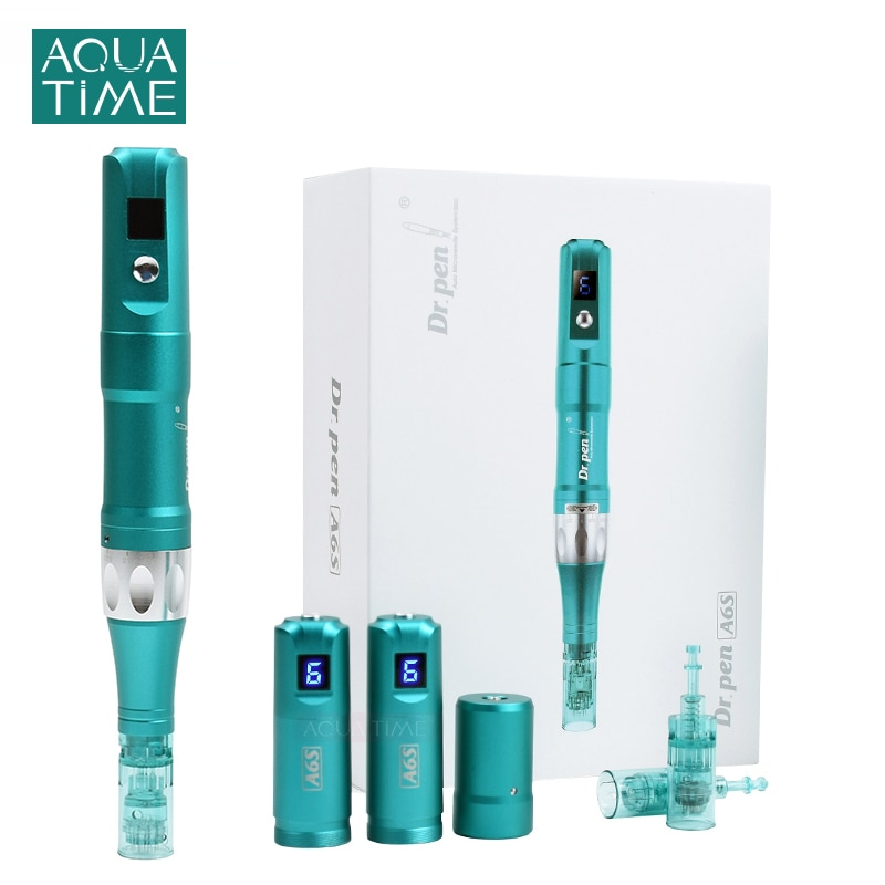Dr.Pen A6S New Electric Microneedling Pen with 2 Pcs Cartridges Derma Pen Needle Microneedle Therapy System Skin Care Machine