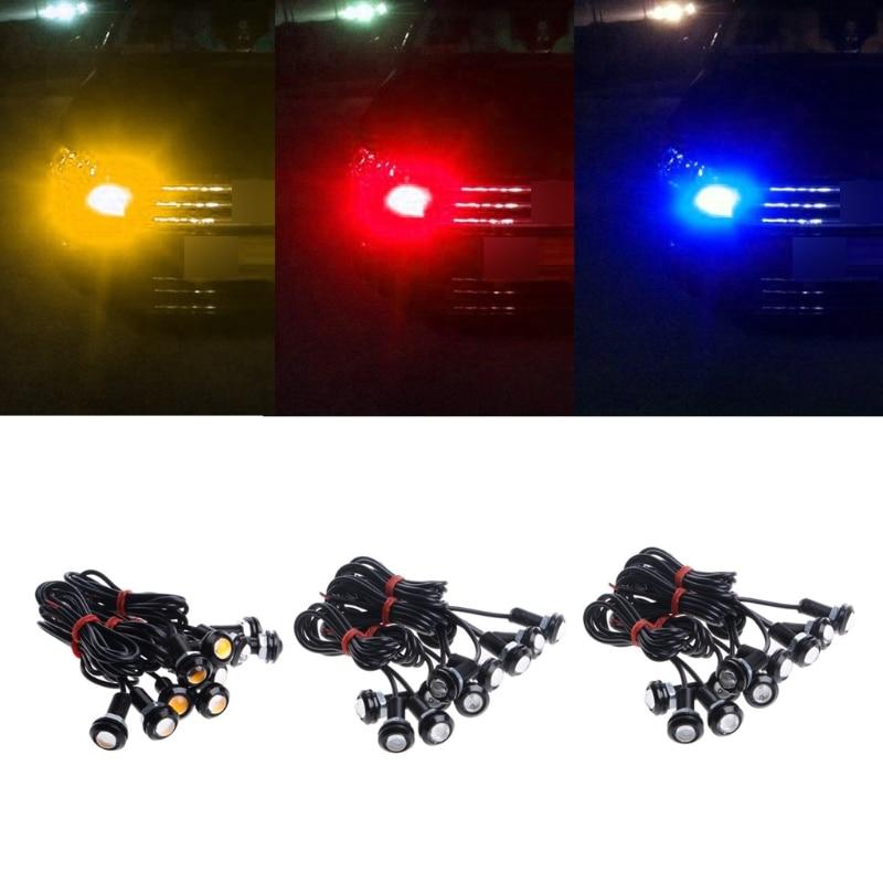 10 Uds de alta potencia 9W LED coche 12V ojo de águila 18mm Motor de coche niebla DRL Luz de respaldo