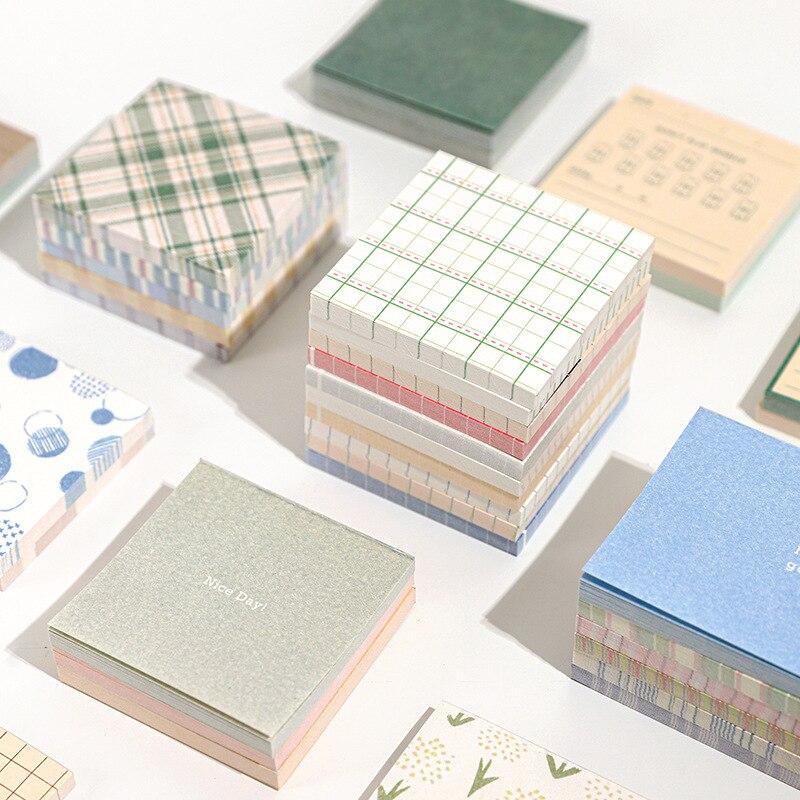Kawaii Cute Forest Cloud Grid Memo Pad Agenda List Notepad Diary Stationery School Office Supplies Bullet Journal sl2407