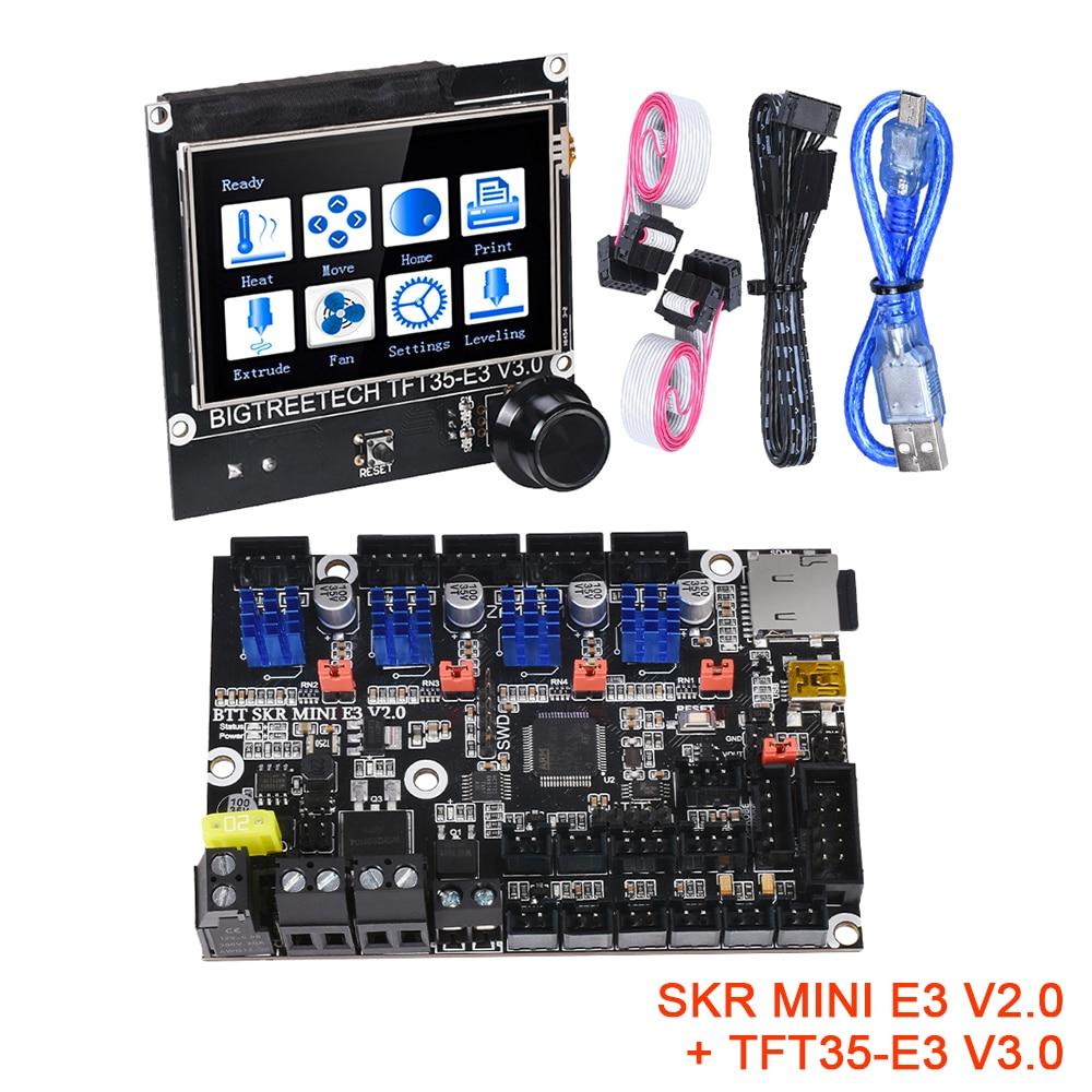 BIGTREETECH SKR MINI E3 V2.0 + TFT35 V3.0 Control Board Kit TMC2209 UART 3D Printer Parts CR10 ender 3 Upgrade Touch Screen