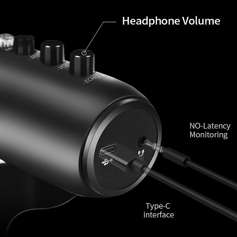 MU-900 USB Condenser Microphone Stand Gaming Streaming Podcasting Recording for Computer USB PC Headphone enlarge