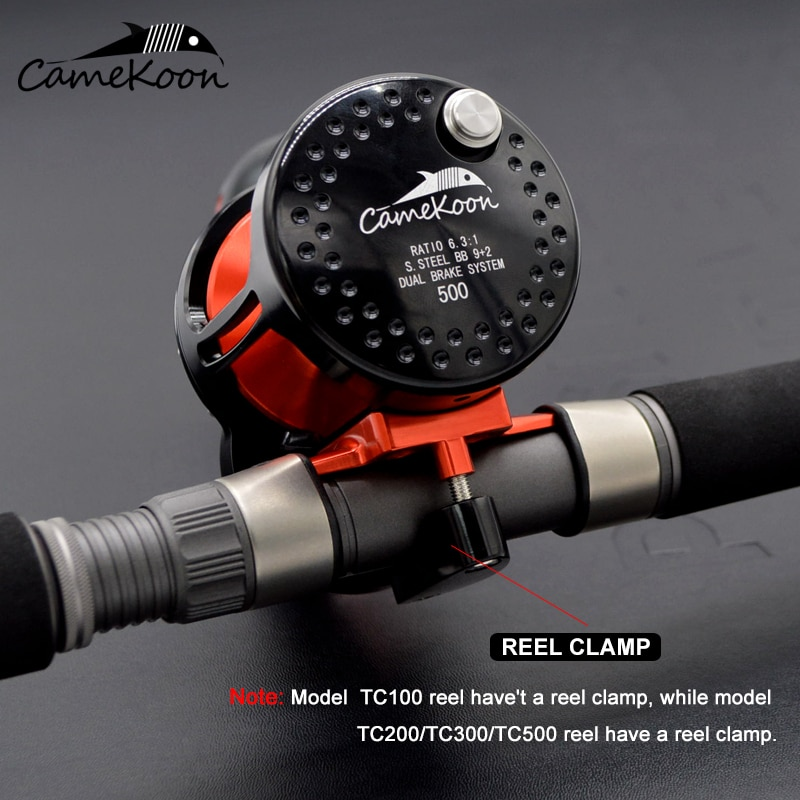 CAMEKOON Trolling Reel up to 35kg Lever Drag 6.3:1 Offshore Saltwater Slow Pitch Jigging Fishing Coil 9+2 BBs Conventional Wheel enlarge