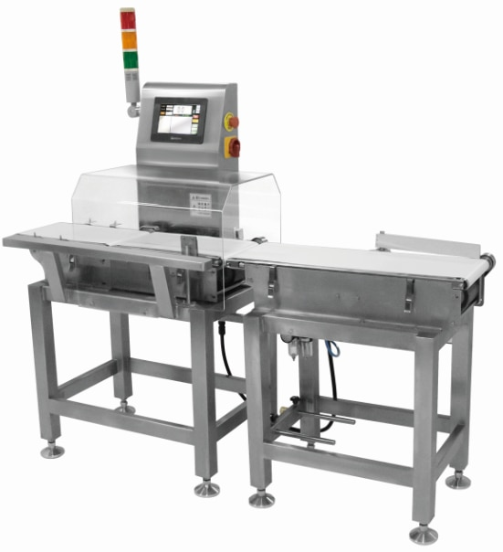 Online checkweigher machine for snacks, bags, sachet, cosmetic smoke detector