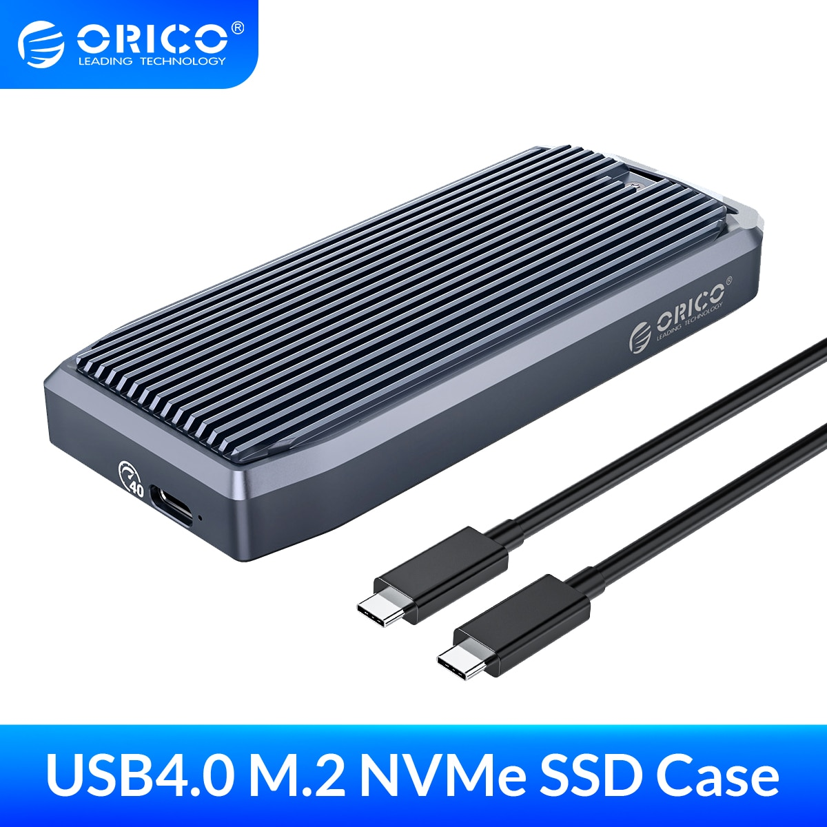 ORICO LSDT M2 SSD Case 40Gbps NVME Enclosure M.2 to USB Type C 4.0 SSD Adapter for NVME PCIE M Key SSD Disk Box M.2 SSD Case