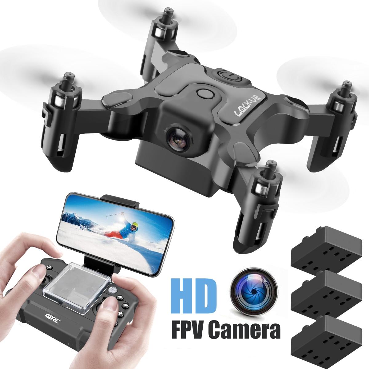 New Mini Drone V2 1080P HD Camera WiFi Fpv Air Pressure Altitude Hold Foldable Quadcopter RC Drone Kid Toy GIft