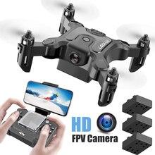 New Mini Drone V2 1080P HD Camera WiFi Fpv Air Pressure Altitude Hold Foldable Quadcopter RC Drone K
