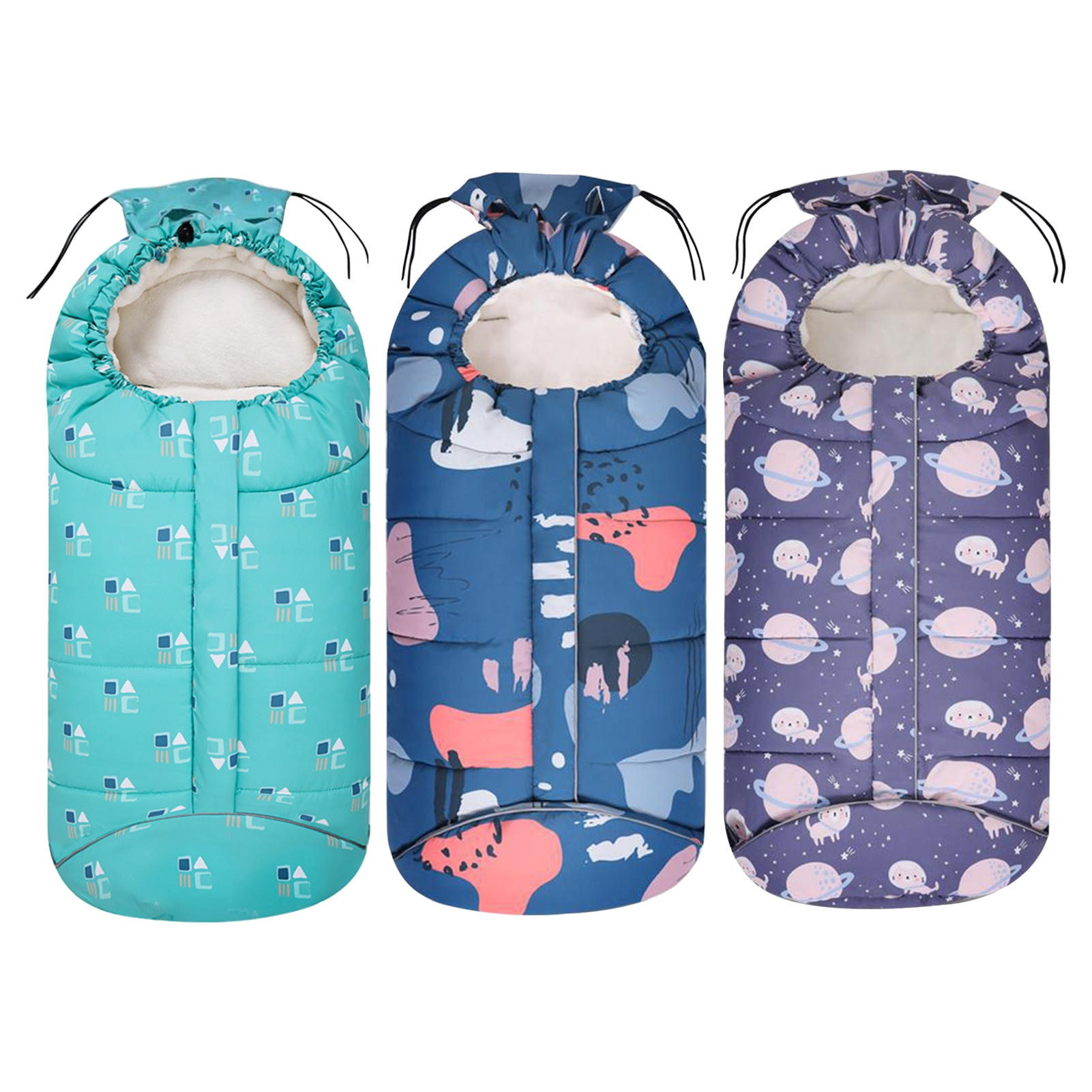 Winter Baby Sleeping Bags Baby Sleepsacks Soft Warm Envelope For Newborn Wearable Stroller Blanket With Footmuff For Carriage