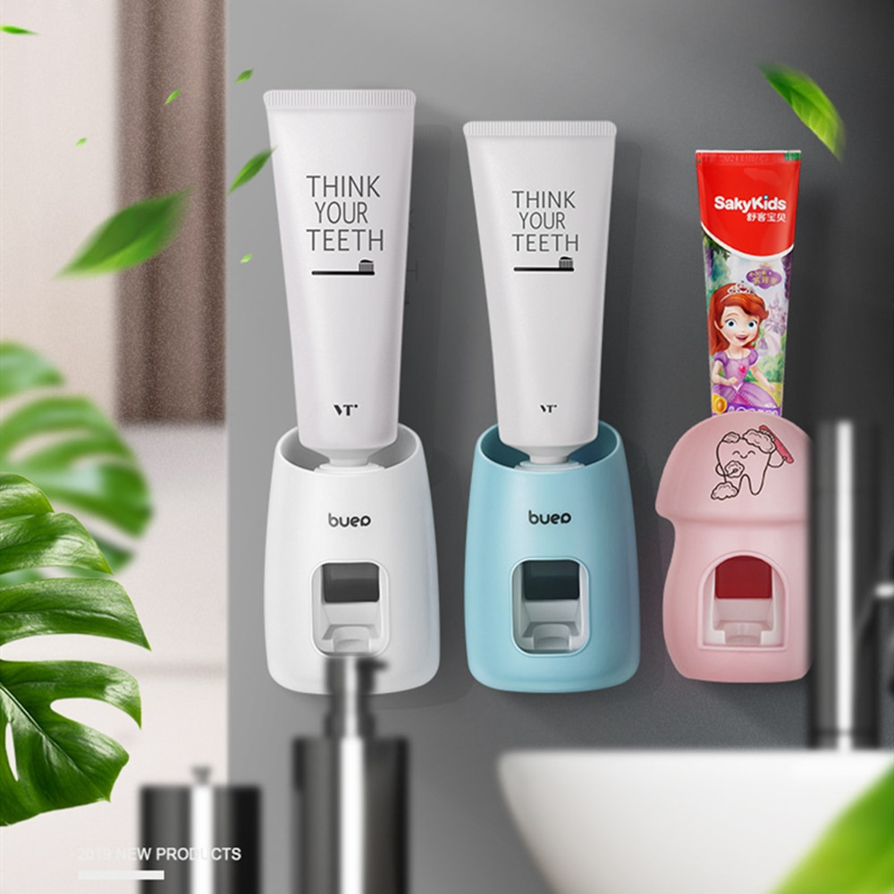 Automatic Toothpaste Squeezer Hand Free Tooth Paste Squeezing Dispenser Easy Press Toothpaste Holder Bathroom Tools enlarge