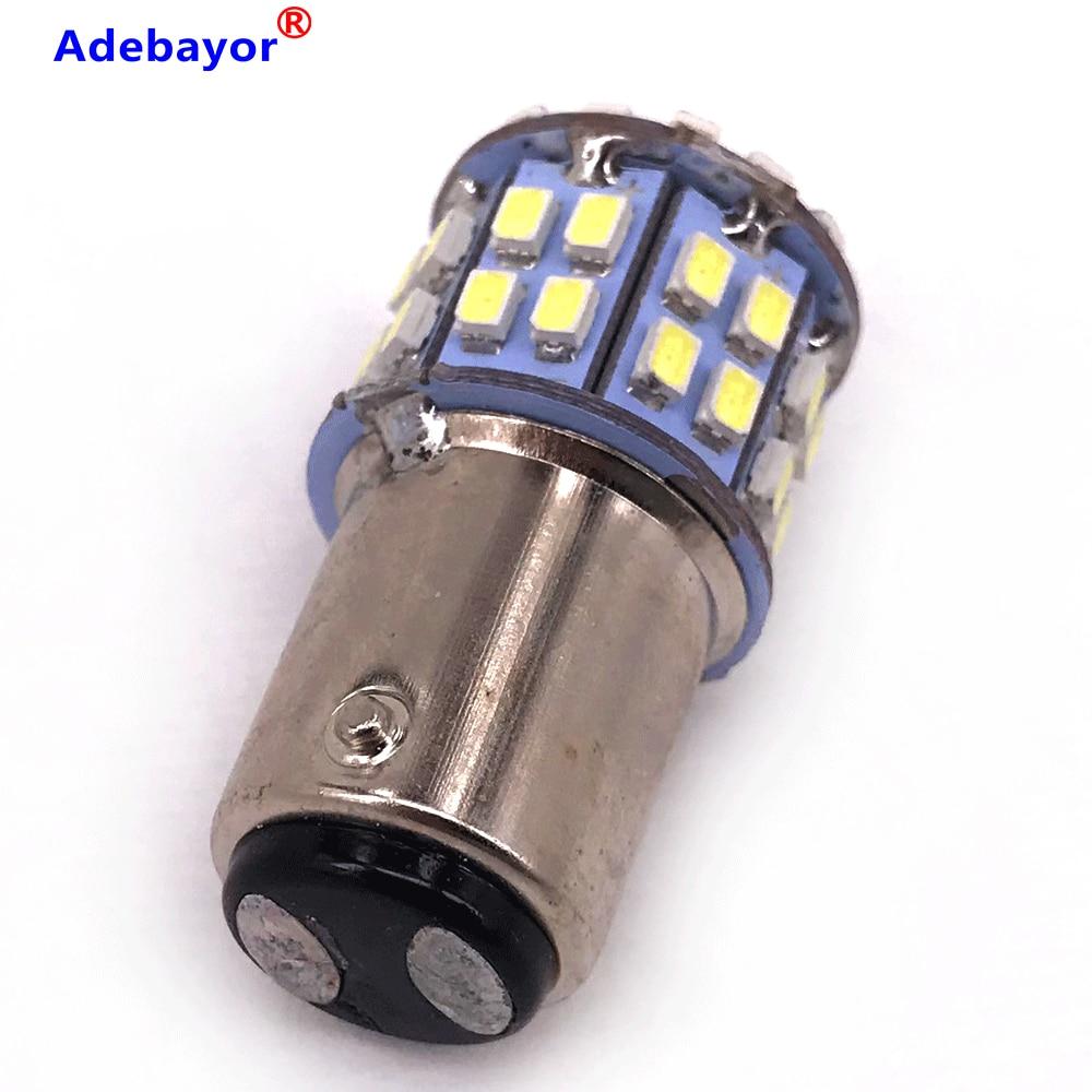 50 Uds 1157 3020 SMD 50 Led Luz de coche BAY15D P21/5 W luz de freno automático lámparas de xenón para ford coche estilo blanco Adebayor 50X