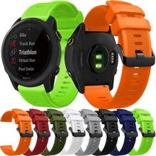 Silicone Strap for Garmin Forerunner 745 GSP Smart Watch Bracelet Quick Release Sport Straps Correa