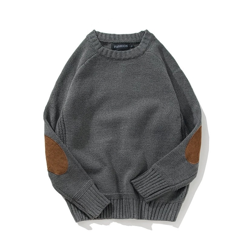 Pullover Sweater Men 's Autumn And Winter Youth College Style Patch Color Contrast And Thick Round Neck Wool Sweater aliexpress crew neck linen flower color sweater men s pullover knitted sweater men s wear
