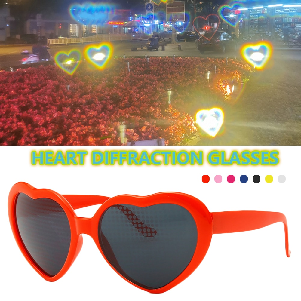 Heart Diffraction Glasses 3D Valentine's Day Gifting Outdoor Music Party Bar Fireworks Displays Effe