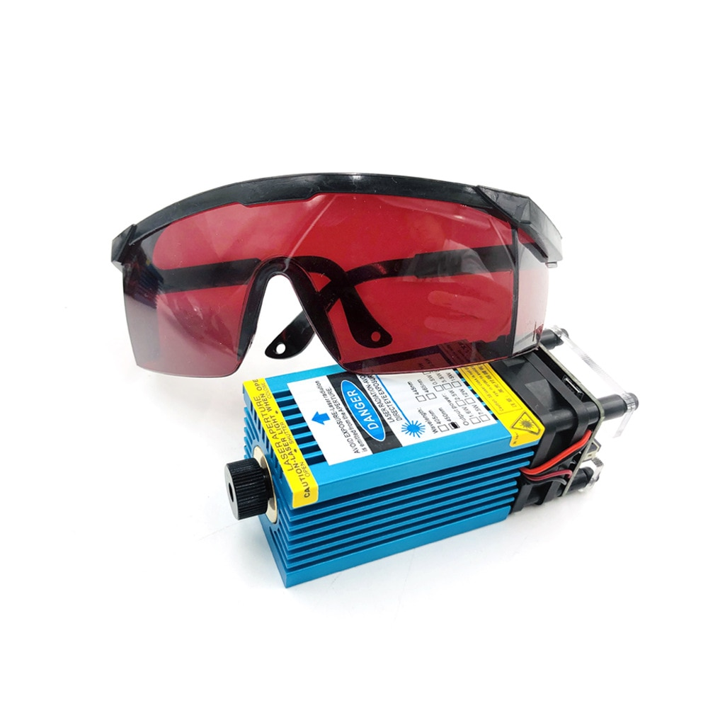 500MW 2500MW 5500MW 405-450MW Laser Module Focusing Len Blue Laser Engraving TTL PWM Module