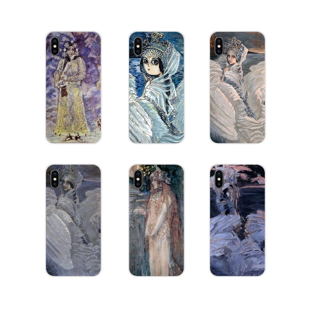 Funda de piel suave transparente Mijail Vrubel Princess Swan para Samsung A10 A30 A40 A50 A60 A70 Galaxy S2 Note 2 3 Oneplus 3T 5T 6T
