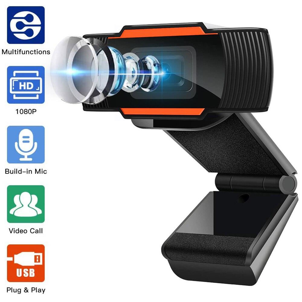 Webcam 1080P 720P 480P caméra Web Full HD Microphone intégré prise USB caméra Web pour ordinateur Mac ordinateur portable de bureau YouTube Skype