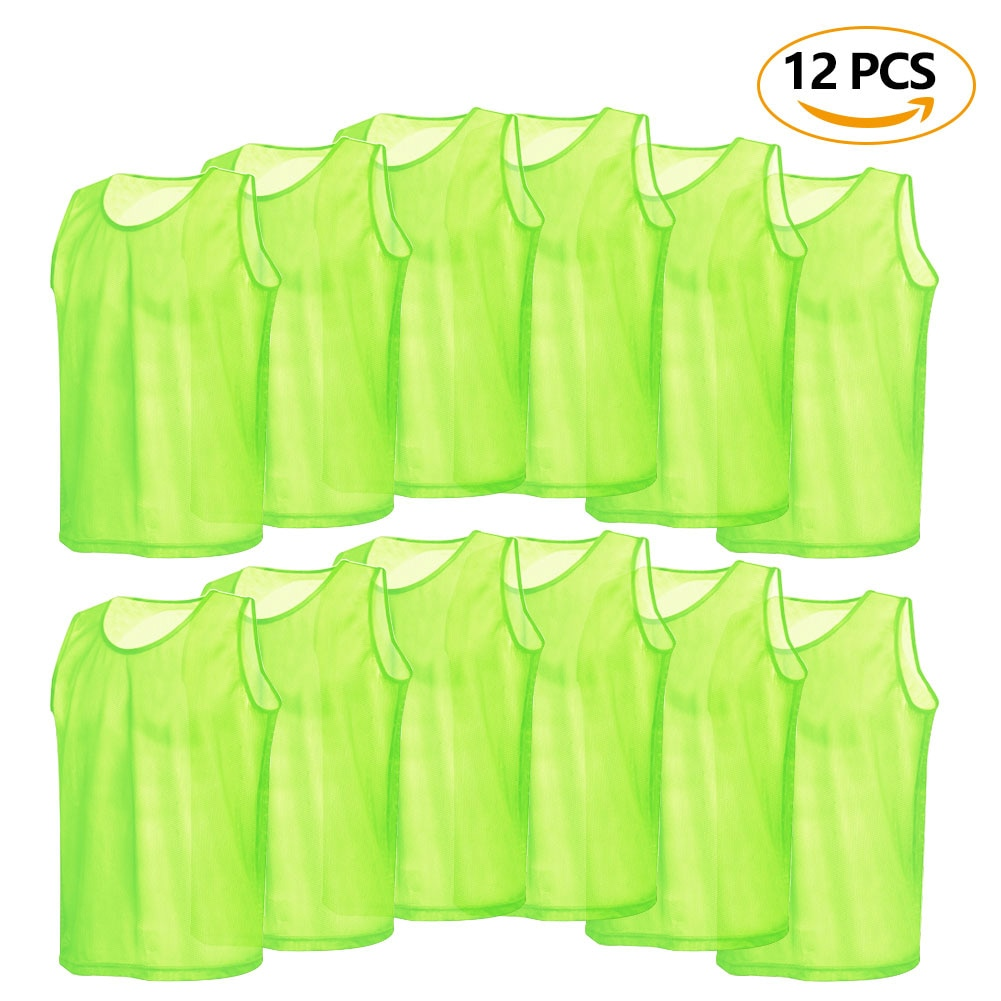 6/12 PCS Adults Soccer Pinnies Quick Drying Football Jerseys Vest Scrimmage Practice Sports Vest Breathable Team Training Bibs