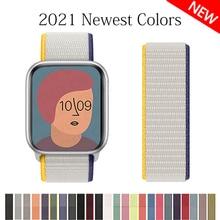 Correa de nailon para apple watch, banda de 44mm, 40mm, 45mm, 41mm, 42mm y 38mm, pulsera para iwatch serie 3 4 5 6 se 7