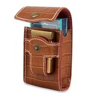 holds 20 cigarettes two in one elegant creative genuine leather cigarette case individuality portable cigarette accessories