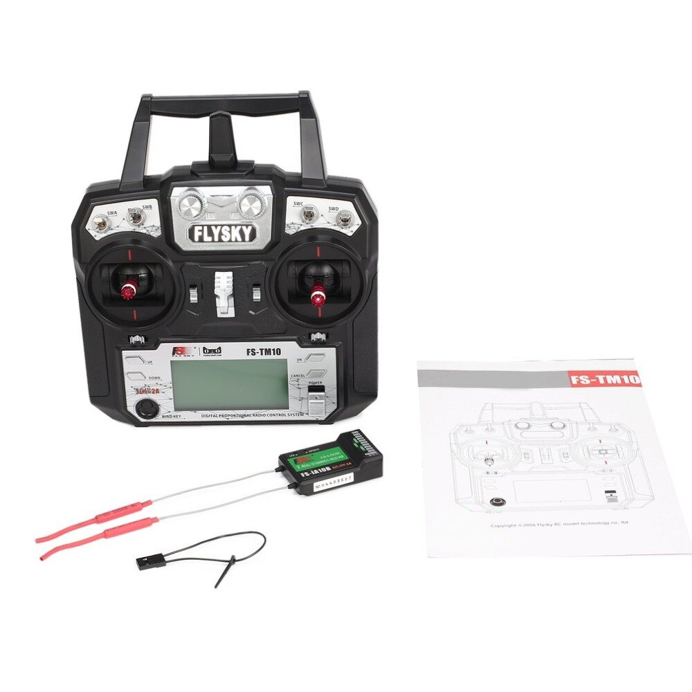 Flysky FS-TM10 FS-i6X 6CH 2.4GHz AFHDS RC Transmitter Radio Model Remote Controller System with FS-IA6B Receiver enlarge