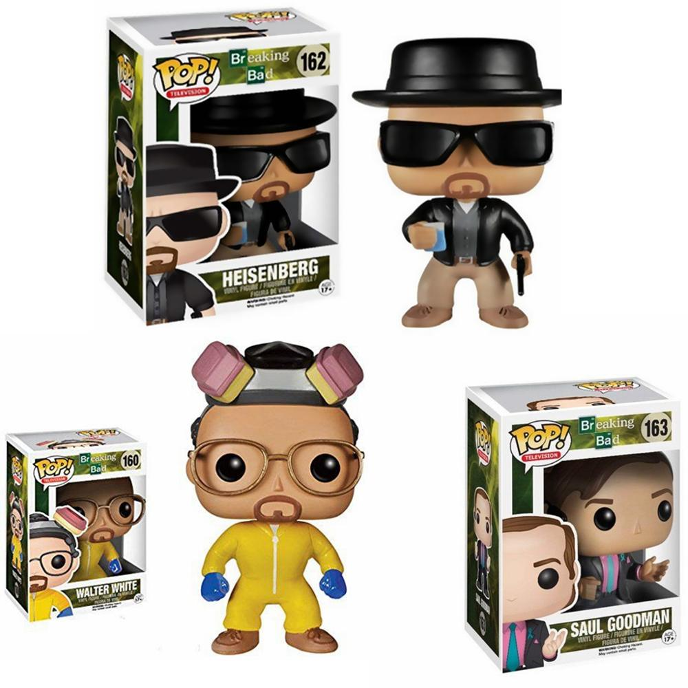 FUNKO POP Breaking Bad HEISENBERG SAUL GOODMAN vinilo figuras de acción colección modelo juguetes para niños regalo de cumpleaños