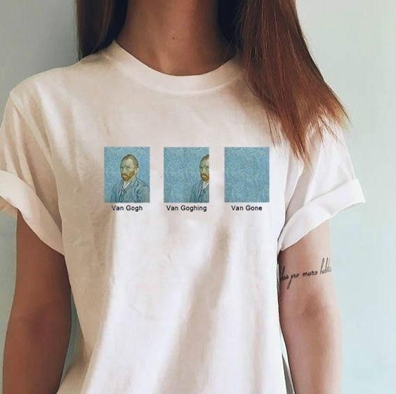 Sunfiz HJN Van Gogh Van Goghing Van ido Meme gracioso camiseta Unisex bóxer estampado bonito Tee
