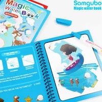 diy reusable magic water painting book antistress coloring book drawing book early education toys for kids sensory birthday gift
