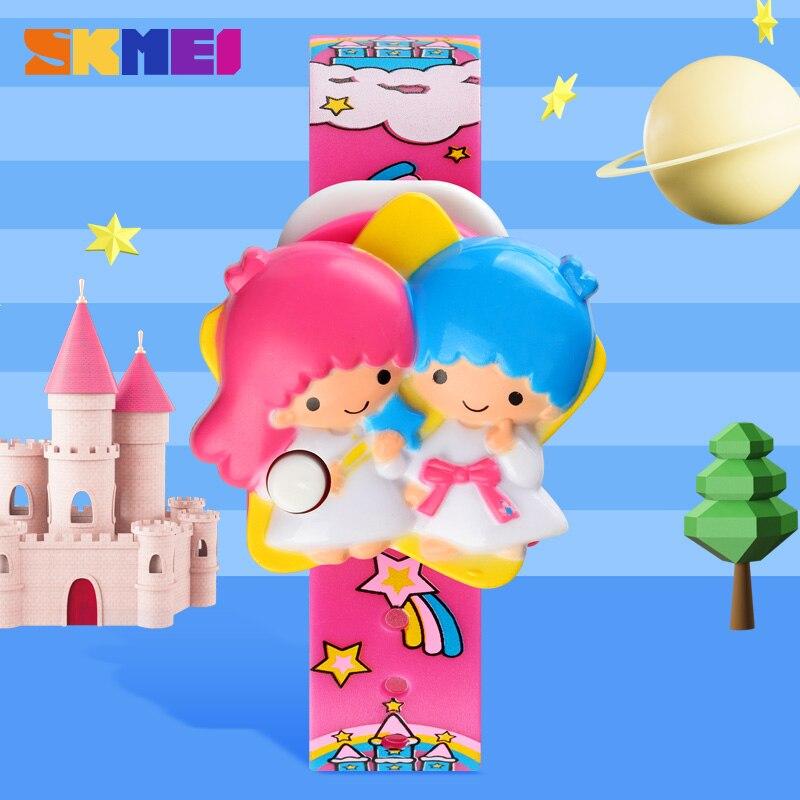 SKMEI 1749 Fashion Cartoon Children Digital Watch Kids Watches Girls Electronic Clock Toys Gifts Bracelet Reloj Drop Shipping